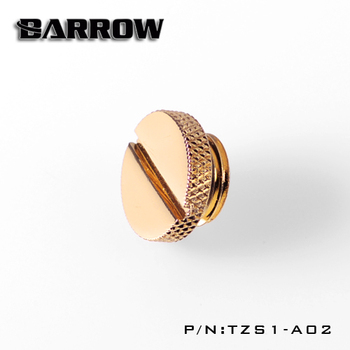 Barrow TZS1-A02 G1 / 4 White Black Silver Gold Acrylic water cooling connector, coins can be used to twist the connector image