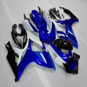 Custom motorcycle cowl for GSX-R600750 2006-2007 K6 ABS plastic Fairing Injection mold blue