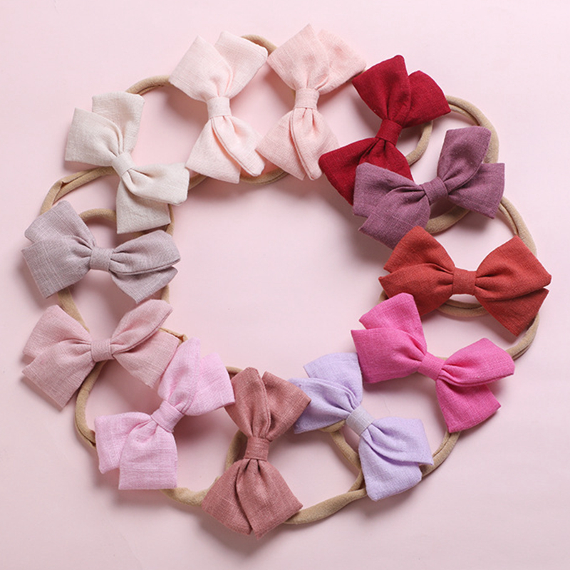 Baby Girls Headband Cotton Headbands Kids Thin Nylon Hairband Elastic Newborn Head Band Soft Infant Hair Accessories 2020 New