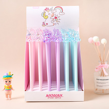 36 pcs/lot Crystal Unicorn Gel Pen Cute 0.5mm black Ink Neutral Pen Stationery gift Material Office School writing Supplies