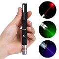 Супер яркая лазерная указка ручка 5 мВт луч высокой мощности игрушка для домашних животных 532 нм указка ручка красный зеленый синий мини Мощ...