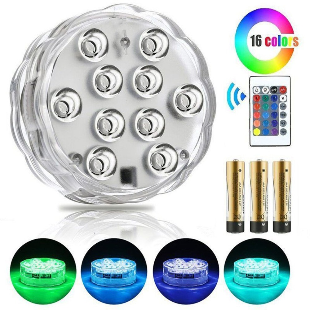 New Arrive RGB Submersible Light Swimming Pool Light  Ip68 Piscine With Remote Control Durable LED Bulb Portable Underwater