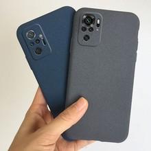 Ultra fino arenito fosco caso de telefone para xiaomi redmi nota 10 pro max 10s redmi nota 10 5g macio tpu volta cobre coque capa
