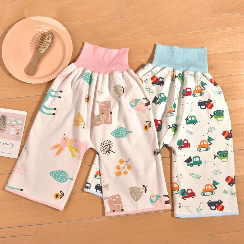 Детская юбка из чистого хлопка для предотвращения утечки мочи; обучающие брюки; можно стирать; юбки