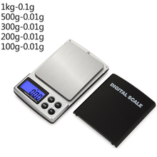 Mini Digital Scale High Accuracy 100/200/300/500/1000g 0.01/0.1g Jewelry Backlight Pocket Gram Scales for Women
