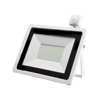 Led Pir Motion Sensor Schijnwerper 10W 20W 30W 50W 100W Waterdicht Wit Reflector Outdoor Spotlight voor Tuin Wall Street Licht