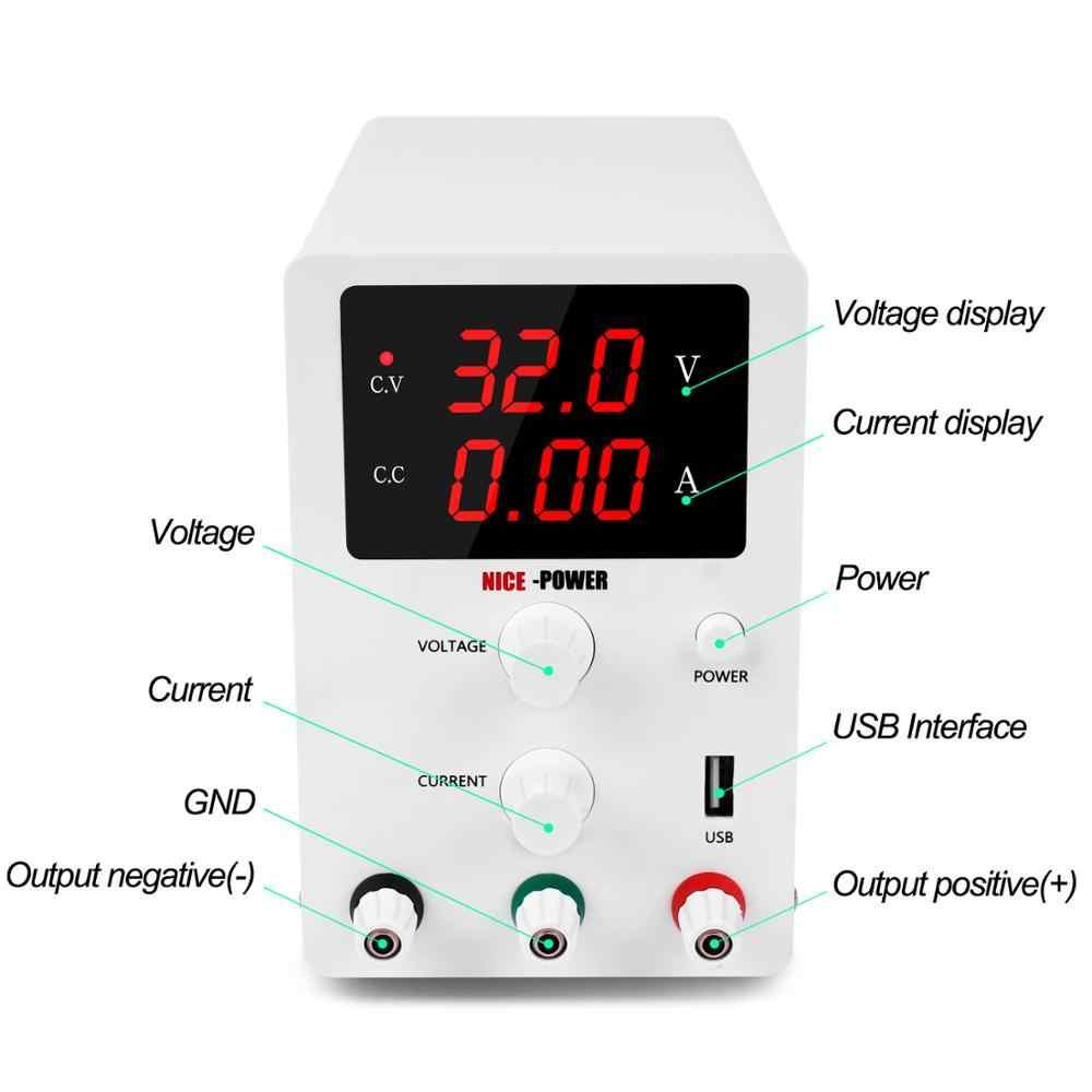 Najnowszy Nice DC LAB regulowana moc zasilania 30V 10A 60V 5A ławka źródło uniwersalne przełączanie napięcie prądu Regulator do telefonu