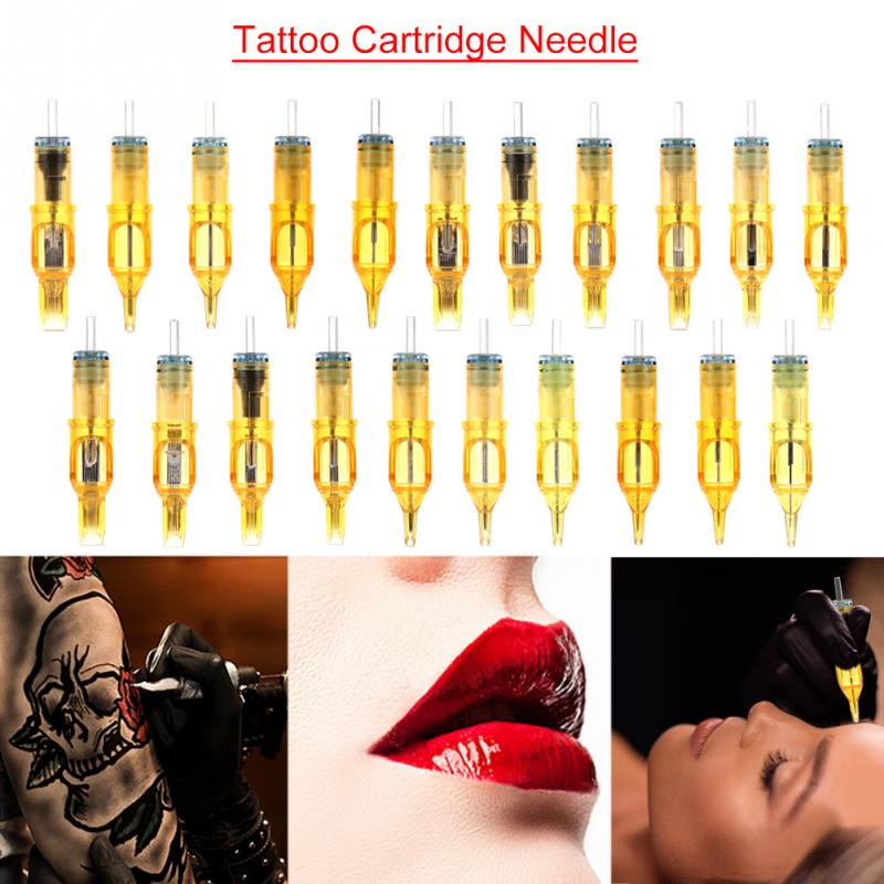 10PCs Disposable Tattoo Cartridge Needles Tattoo Makeup 3RL/5RL/7RL/9RL/5M1/7M1/9M1/5RS/7RS/9RS for Microblading Tattoo Machine