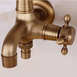 Image 5 - アンティーク真鍮の壁マウントを使用して水栓浴室アクセサリー屋外シンクガーデンタップ装飾洗濯蛇口コック