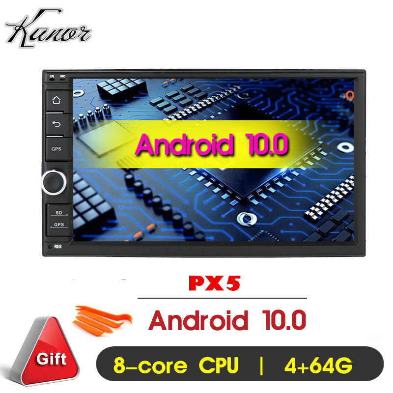 KANOR OCTA Core RAM 4G ROM 64G 2Din DSP Android 10 Universal รถวิทยุสเตอริโอพร้อม GPS WIFI GPS Navigation Video HEAD UNIT