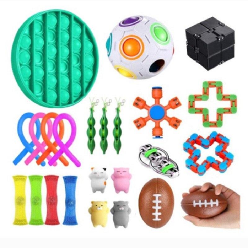 Лидер продаж, игрушки-антистресс, набор игрушек-антистресс, тянущиеся струны, сетчатые мраморные рельефные игрушки для взрослых и девочек, ...