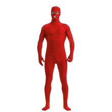 (CM-36) Red Lycra Spandex Zentai Full Body Skin Tight Jumpsuit Zentai Suit Bodysuit Costume with Open Eyes/Mouth