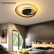 Luminaires Modern Led Ceiling Lights Black&White Led Chandelier Ceiling Lamp For Bedroom Living room Dining room Light Fixtures acrylic thick modern white black led ceiling chandelier lights for living room bedroom dining room chandelier lamp fixtures