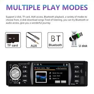 Image 4 - 1 din 4.1 Polegada rádio do carro tf usb carregamento rápido peças de automóvel bluetooth 4.2 iso remoto multicolorido iluminação áudio vídeo mp5 player