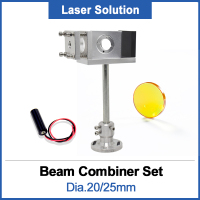 Beam Combiner Set 20/25mm ZnSe Laserstraal Combiner + Mount + Laser Pointer voor CO2 Lasergravure snijmachine