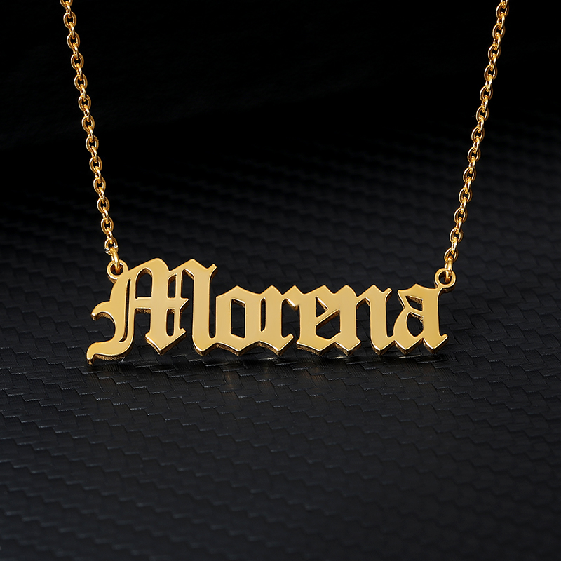 Custom Old English Name Necklace,Personalized Name Necklace,Custom Jewelry For Women,Men Jewelry,collares de moda 2019 BFF