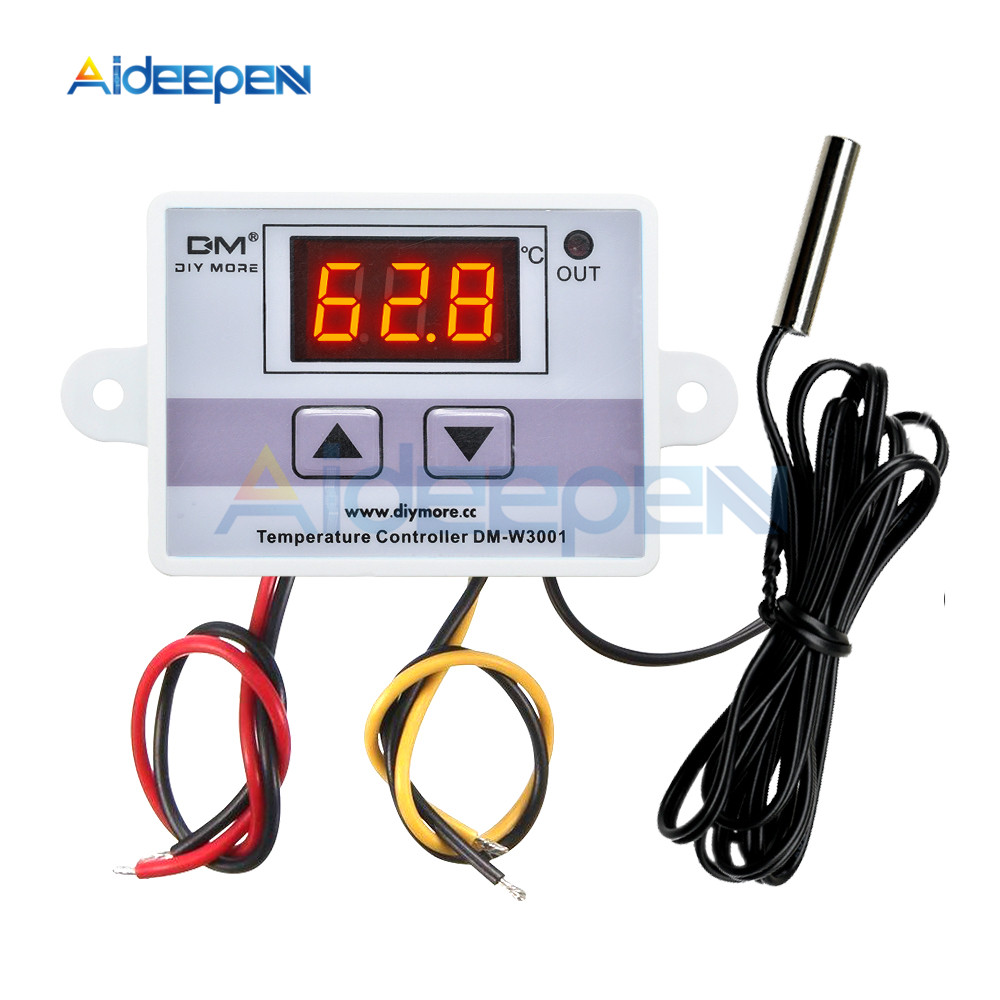 <font><b>XH</b></font>-<font><b>W3001</b></font> <font><b>W3001</b></font> Temperature Controller Digital LED AC 220V Thermometer Thermo Controller Switch Probe Max 10A NTC10K image