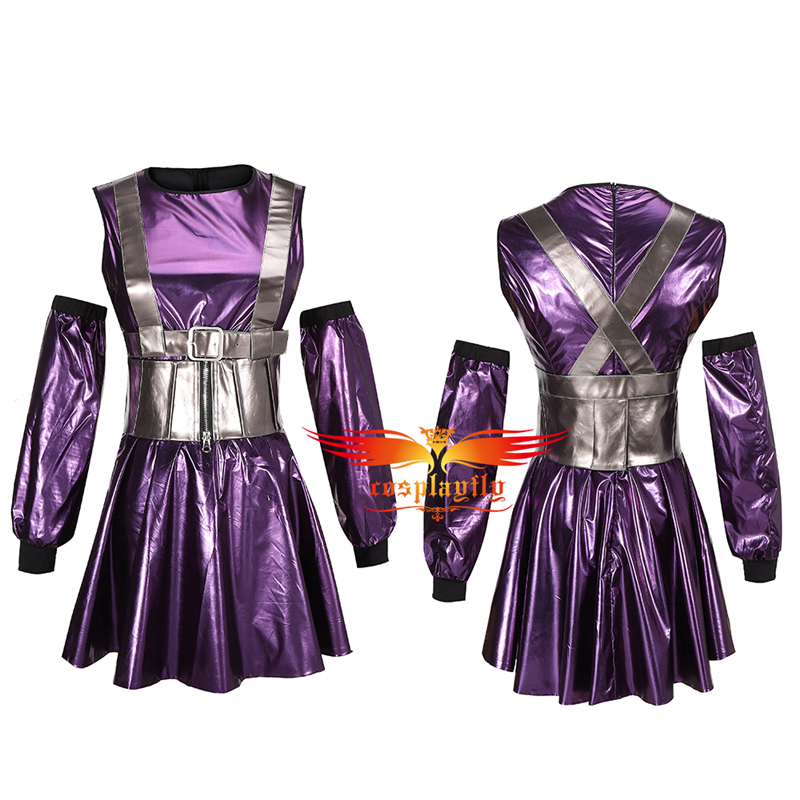 Anime RAIN ON ME MV Ariana Grande Lady Cosplay Costume Adult Women Outfits Sexy Purple Dress for Cocktail Party Skirt Halloween