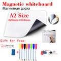 Pizarra magnética pegatina de nevera Oficina información tablero de mensajes escuela enseñanza pizarra papelería pizarra seca pizarra blanca