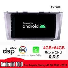 4g + 64g android rádio do carro reprodutor de vídeo multimídia navegação gps wifi 2 din para toyota camry 40 50 2006 - 2011 nenhum dvd