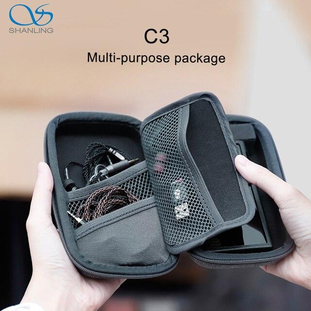 SHANLING C3 boîte de rangement pour lecteurs portables M0 M1 M3S M5S FIIO M5 M6 M9 M7 M3K M11 paquet multi usage Anti pression
