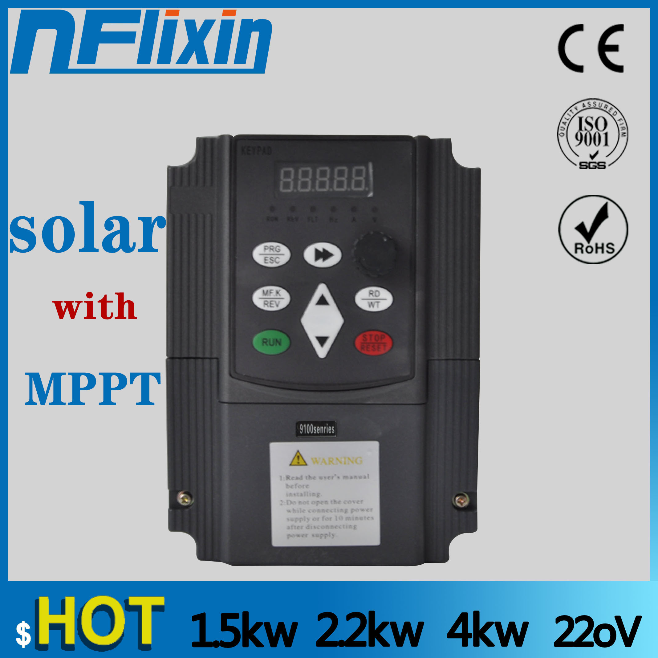 NF9100 Vector Control frequenz konverter DC 200 V-400 V zu Drei-phase 220V solar pumpe inverter mit MPPT steuer