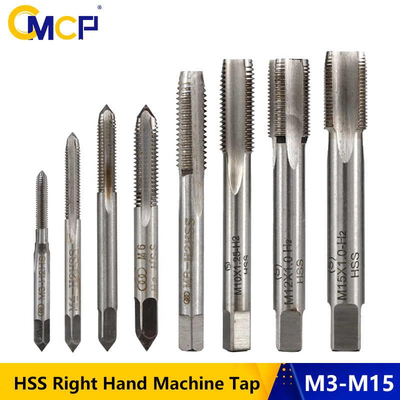 HSS Metric Left-hand Machine Straight Flute Screw Thread Plug Tap Bit M1-M24