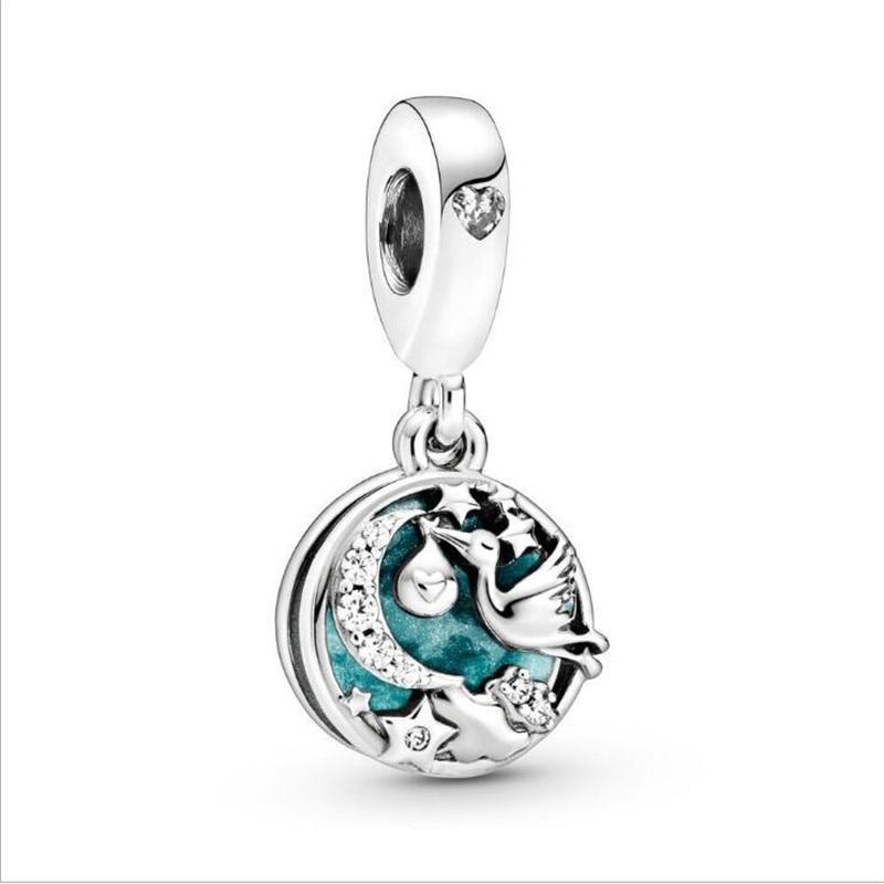Pandora Bracelets Stork Twinkling-Stars Jewelry Charms Beads Dangle Women Original DIY