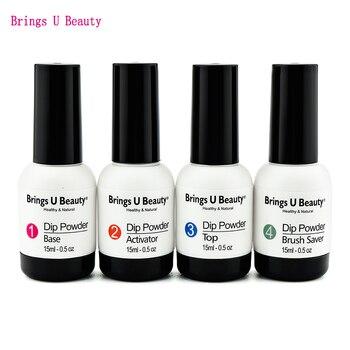 10g/box Very Fine Dipping Nail Powder Solid Color Set Summer Popular Dip Powder Natural Dry DO NOT Lamp Cure - BU-15ml-BATB