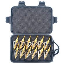Linkboy-puntas de punta ancha para tiro con arco compuesto, 12 Uds., 100gr, 125gr