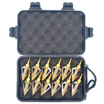 Broadheady Linkboy łucznictwo 12 sztuk 100gr 125gr punkty porady dla strzały karbonowe groty strzałek dla związek łuk polowanie tanie i dobre opinie Linkboy Archery CN (pochodzenie) LBB001 Łuk i strzały zestaw blue gold red black stainless stee1430 1 035inch Zhejiang China (Mainland)