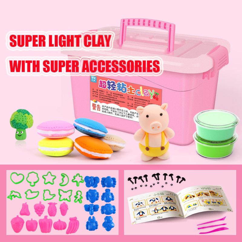 Slime Toys Super Light Clay 2019 Popular Toys for Children with Accessories Educational Slime Containers Baby Boy Girl Gifts