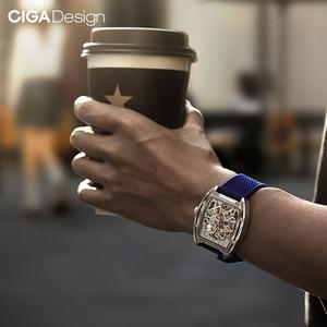 Image 4 - Original CIGA Design Z Series mens smart watch clock Automatic Mechanical Watch Self wind Wrist Watches smartwatch