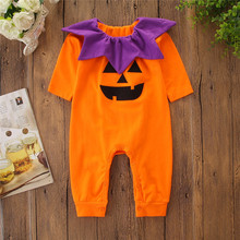 Halloween Pumpkin Winter Jumpsuit Cotton Baby Romper Clothes Overalls For Children Newborn Baby Costume Bebe Girl Boy Clothing