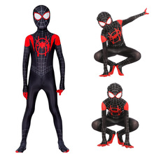 Zentai Suit Spider-Costume Halloween-Jumpsuit Party-Dress Cosplay Miles Morales Carnival