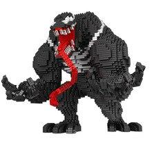 Marvel Venom Building Blocks Infinity Gauntlet DIY Diamond Figures Captain America Mini Brick Toys for Children 3910pcs