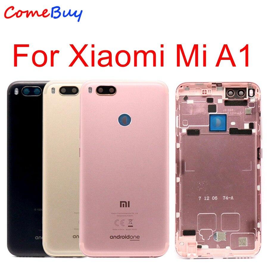 For Xiaomi Mi A1 Battery Cover MiA1 Rear Door Back Housing Case For Xiaomi Mi 5X A1 Battery Cover With Power Volume Button