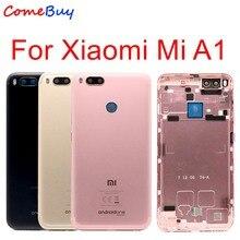 Xiao mi mi A1 pil KAPAĞı mi A1 arka kapı ARKA Konut Kılıfı Için Xiaomi mi mi 5X A1 pil Kapağı Ile Güç Ses Düğmesi