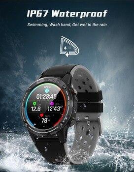 цена на Smart sports watch waterproof IP67 heart rate monitoring GPS Tracker Bluetooth 5 sport modes Touch1.3IPS unisex smart watch M6C
