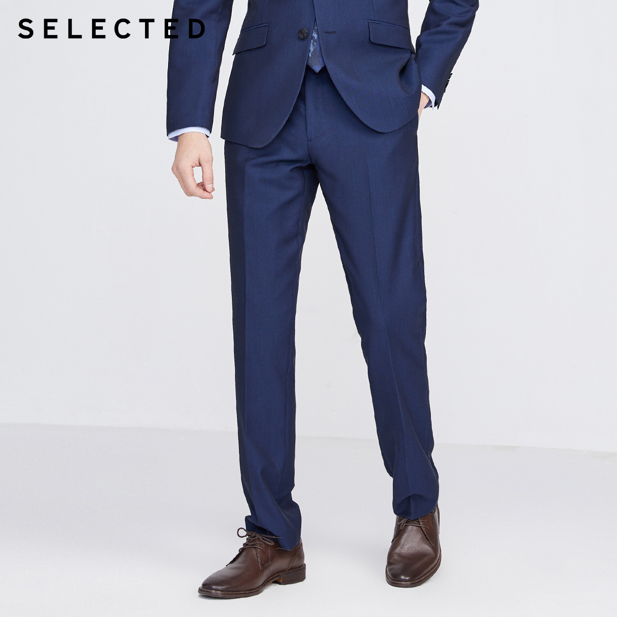 SELECTED Men's Regular Fit Pure Color Suit Pants S|42016A505