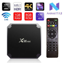 X96 Mini Set Top Boxs Android 7.1 Box Android Amlogic S905W Quad Core Arm Cortex A53 2 Ghz WIFI2.4G HDMI2.0 4K Mediaspeler(China)
