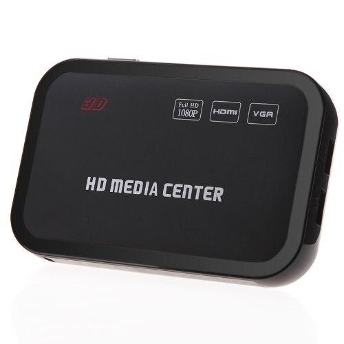 Lecteur multimédia Full HD 1080P lecteur vidéo multimédia RM/RMVB/AVI/MPEG avec télécommande HDMI YPbPr VGA AV USB SD/MMC