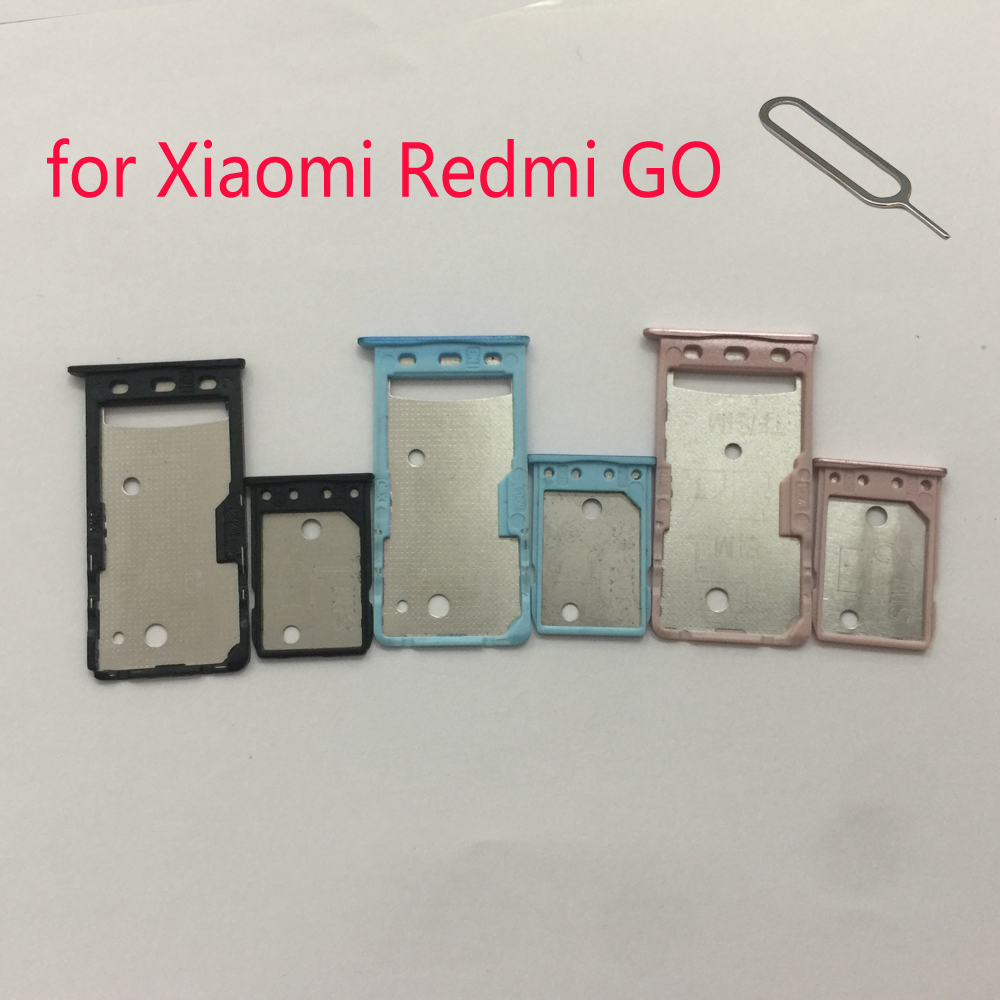 Phone SIM Card Tray Adapter For XIAOMI Redmi GO Original Housing New Micro SD Card Holder For Xiaomi GO