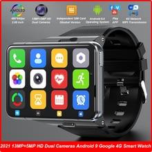 ساعة متصلة للرجال ، إصدار عالمي ، شاشة 2021 بوصة ، كاميرا مزدوجة 13 ميجابكسل و 5 ميجابكسل ، MT6761 ، 4 جيجابايت 64 جيجابايت ، Android 9 ، مراقب معدل ضربات القلب ، 4G ، جديد لعام 2.88