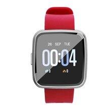 Hfes y7 bluetooth relógio inteligente freqüência cardíaca pressão arterial monitor de sono à prova dwaterproof água cor sn smartwatch esporte banda para ios andr