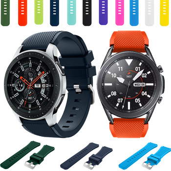 22mm Silicone Watch Band For Samsung Galaxy watch 46/3 45/Gear S3 Frontier/Classic Replacement Quick release Strap Bracelet image