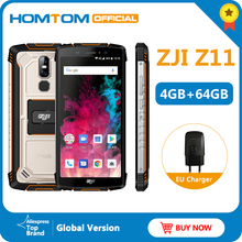 "HOMTOM ZJI Z11 IP68 Do Telefone Móvel 5.99 ""MTK6750T Octa núcleo Dual sim 10000mAh Android 8.1 desbloqueio Rosto 4GB de RAM 64GB ROM Smartphones"
