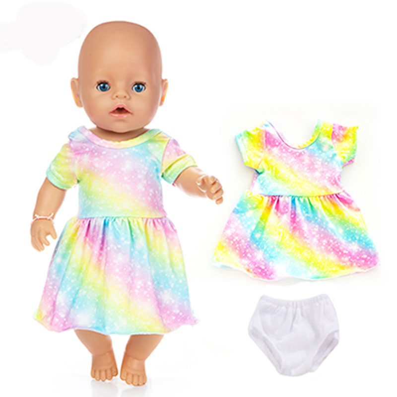 Fashion Dress Wear For 43cm Zapf Baby Doll 17 Inch Born Babies Dolls Clothes And Accessories