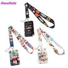 Ransitute-Llavero Soporte para tarjeta de identificación, tarjeta de identificación, gimnasio, soporte de insignia móvil, cordón, R1388, gran serie de televisión Friends