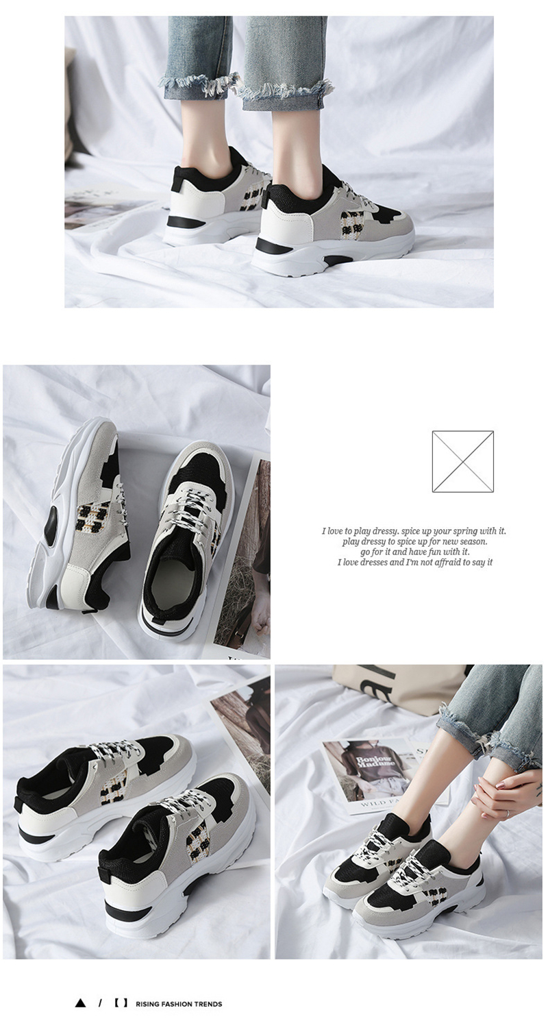 Spring Summer New Fashion Women's Vulcanize Shoes Casual Platform Increased Women Shoes Sneakers Casual Shoes Women VT611 (7)